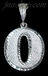 Sterling Silver Number 0 Charm Pendant