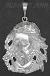 Sterling Silver DC Big Jesus Christ Face Charm Pendant