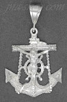 Sterling Silver DC Anchor Cross Crucifix Charm Pendant