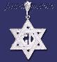 Sterling Silver DC Star of David Charm Pendant