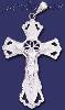 Sterling Silver DC Big Cross Crucifix Charm Pendant