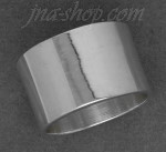 Sterling Silver Flat Wedding Band Ring 14mm sz 11