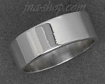 Sterling Silver Wedding Band Ring 7mm sz 10.5