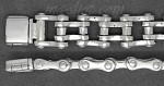 "Sterling Silver 9"" Bike Bicycle Chain Handmade Bracelet 10mm"