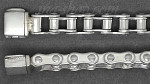 "Sterling Silver 7.25"" Bike Bicycle Chain Bracelet 8.5mm"