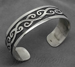 Sterling Silver Celtic Cuff Bangle 16mm