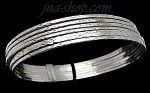 Sterling Silver 60mm Textured 7 Days Bangle 9mm