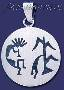 Sterling Silver Native American Design Charm Pendant