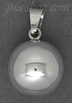 Sterling Silver Large High Polish Harmony Bell Ball Chime Charm Pendant 22mm