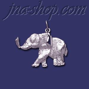 Sterling Silver Elephant Animal Charm Pendant