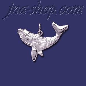 Sterling Silver Blue Whale Animal Charm Pendant