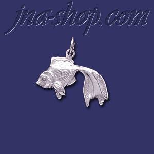 Sterling Silver Goldfish Veiltail ? Animal Charm Pendant