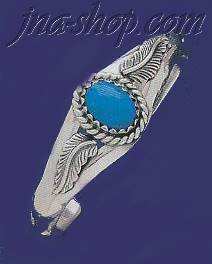 Sterling Silver Genuine American Indian Turquoise Bangle