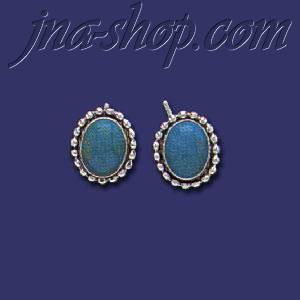 Sterling Silver Genuine American Indian Turquoise Earrings