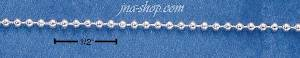 "18"" Sterling Silver 150 BEAD CHAIN (1.5MM)"