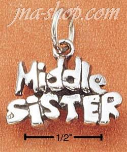 Sterling Silver Middle Sister Charm Pendant