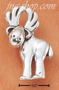 Sterling Silver WHIMSICAL MOOSE CHARM