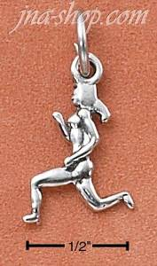 Sterling Silver WOMAN RUNNER CHARM