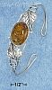 Sterling Silver LARGE OVAL HONEY AMBER WIRE CUFF BRACELET HEART