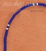 "Sterling Silver 9"" SILVER & LAPIS COLORED PONY BEAD ANKLET"