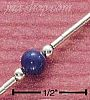 Sterling Silver LAPIS ON LIQUID SILVER ANKLET
