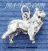 Sterling Silver 3D COLLIE CHARM