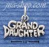 "Sterling Silver ""GRANDDAUGHTER"" CHARM"