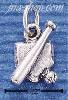 Sterling Silver BASEBALL BAT, BALL, HOMEPLATE CHARM