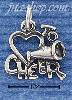 "Sterling Silver HEART ""TO CHEER"" CHARM"