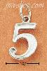 "Sterling Silver NUMBER ""5"" CHARM"