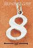 "Sterling Silver NUMBER ""8"" CHARM"