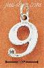 "Sterling Silver NUMBER ""9"" CHARM"