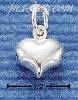 Sterling Silver MINI WIDE PUFF HEART CHARM