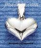 Sterling Silver SMALL WIDE HP HEART CHARM