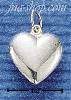 Sterling Silver DAINTY PUFF HEART CHARM
