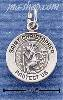 Sterling Silver MINI ST CHRISTOPHER MEDALLION CHARM