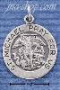 Sterling Silver ROUND ST MICHAEL MEDALLION CHARM