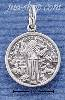 Sterling Silver ST FRANCIS MEDALLION CHARM