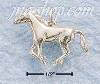 Sterling Silver SMALL SIDE VIEW GALLOPING HORSE CHARM (3D)