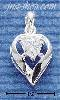 Sterling Silver APRIL CZ HEART CHARM