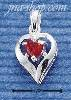 Sterling Silver JANUARY CZ HEART CHARM