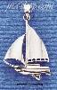 Sterling Silver LARGE HIGH POLISH SAILBOAT