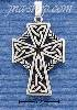 Sterling Silver FANCY CELTIC BRAID CROSS CHARM