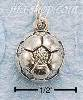 Sterling Silver ANTIQUED SOCCER BALL CHARM