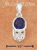 Sterling Silver SEPTEMBER CUBIC ZIRCONIA BIRTHSTONE BOOTIE CHARM