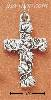 Sterling Silver FANCY BRANCH & LEAF CROSS CHARM