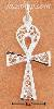 Sterling Silver FILIGREE ANKH CHARM PENDANT