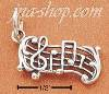 Sterling Silver MUSICAL NOTES CHARM