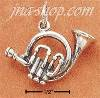 Sterling Silver FRENCH HORN CHARM