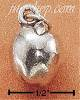 Sterling Silver APPLE W/ LEAF CHARM